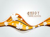 Happy Thanksgiving background with maples leaves, can be use as poster, banner or flyer.  poster