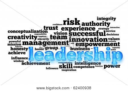Leadership concept poster