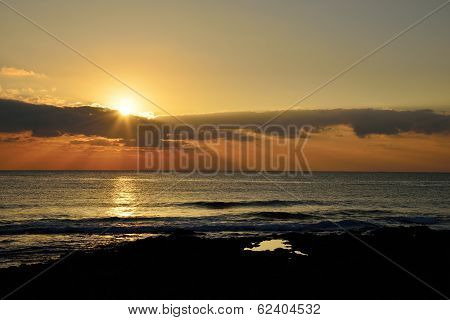 Sunrize Landscape From Of Jeju Island, Korea