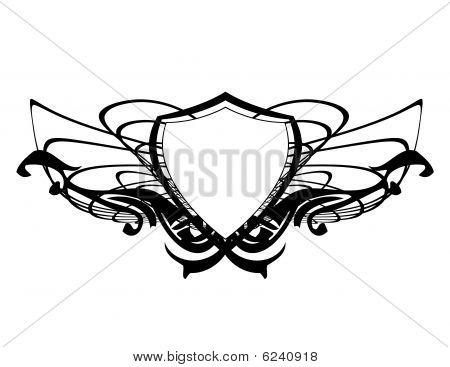 Black Abstract Shield