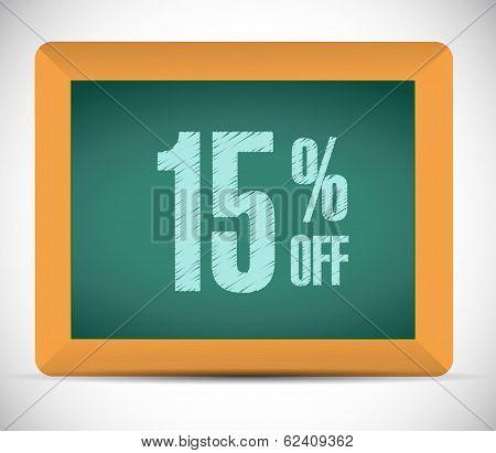 15 Percent Discount Message Illustration Design