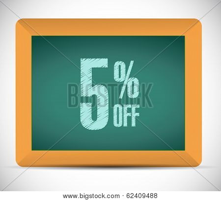 5 Percent Discount Message Illustration