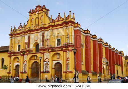 Templo De Santo Domingo Cathedral - San Cristobal De Las Casas, Chiapas, Mexico