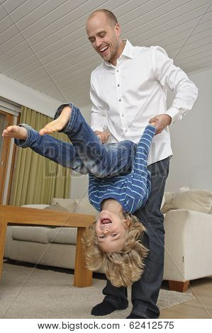 somersaults with dad