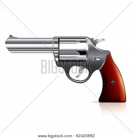Old Revolver Vector Illustration