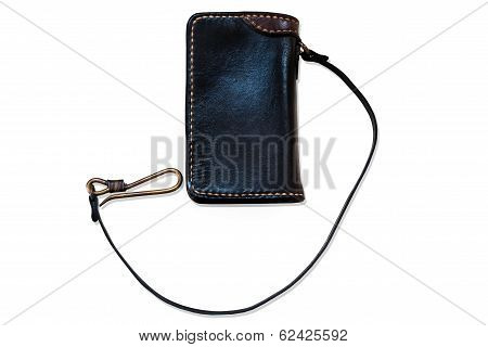 Black Leather Handmade Wallet