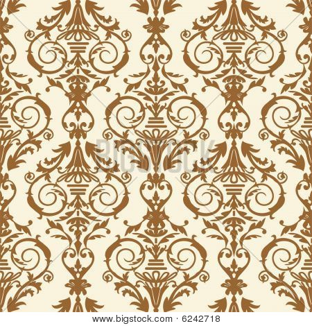 Baroque tile, vector illustration