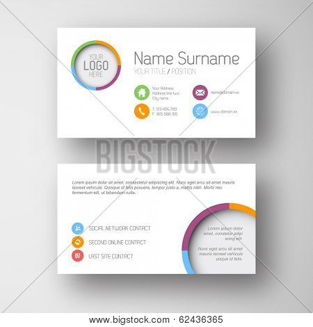 Modern simple white  business card template with some placeholder