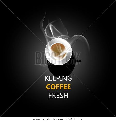 coffee cup design background, easy all editable