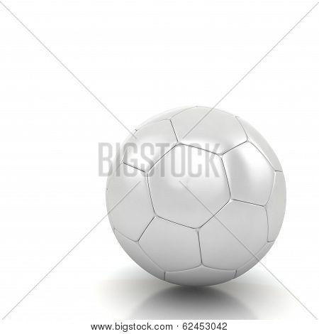 White Soccer Ball Isolated White Background