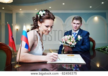 Solemn registration of marriage in the Wedding Palace poster