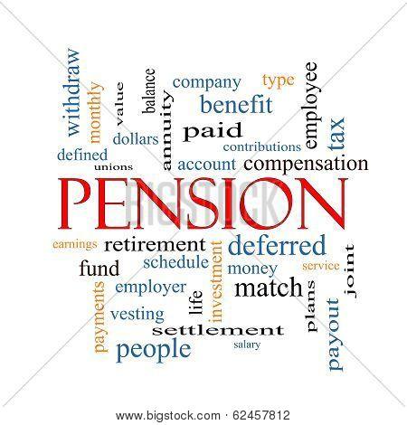 Pension Word Cloud Concept