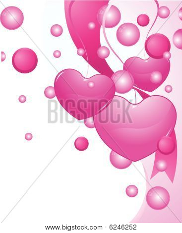 Valentine Hearts Background Collection