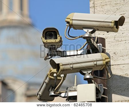 Surveillance Camera To See All Main Points Of The Great Metropolis