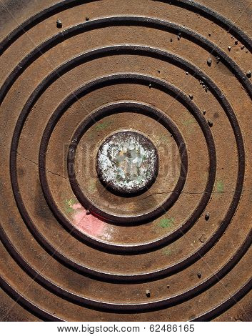 Circles on a metallic surface