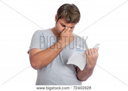 Asian Man Headache Read A Book