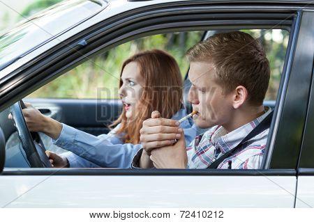 Frivolous Driver In A Car