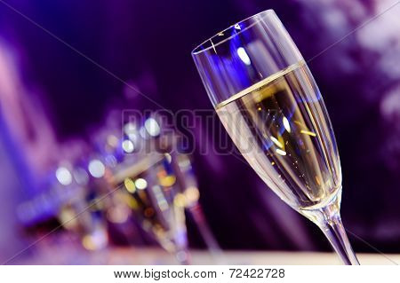 Glass with champagne