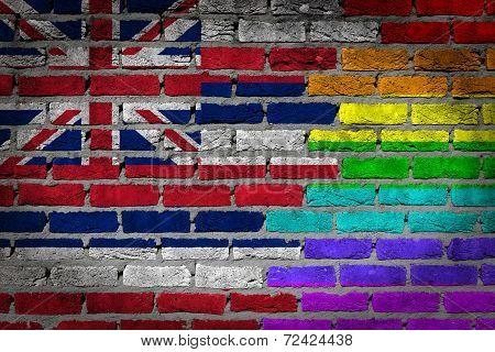 Dark Brick Wall - Lgbt Rights - Hawaii