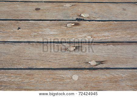 Caulked Boat Floorboard