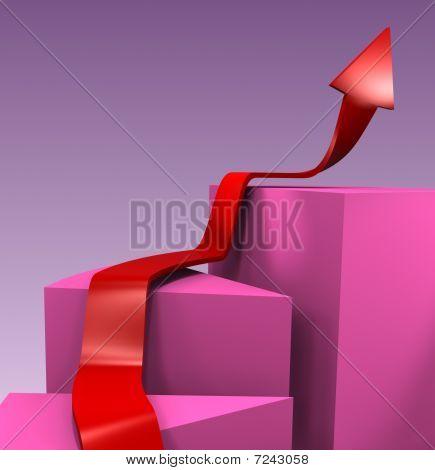 3D Blocks With Arrow