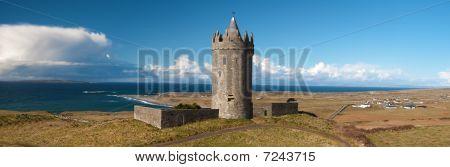 Panoramic Old Ancient Irish Castle West Coast Ireland