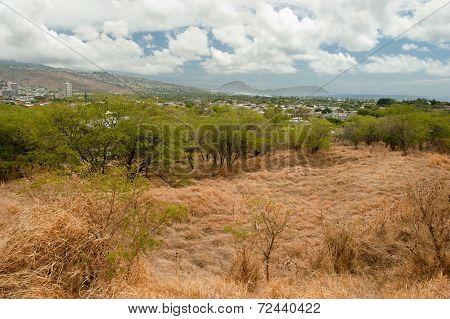 Diamond Head State Monument Park Trail Close Honolulu On Oahu Hawaii