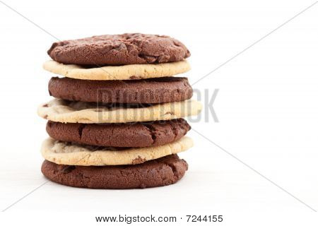 Milk And Dark Chocolate Chip Cookies