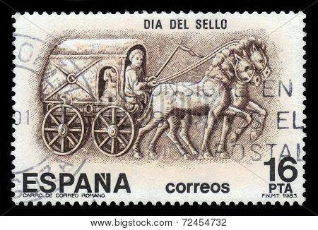 Roman Postal Stagecoach