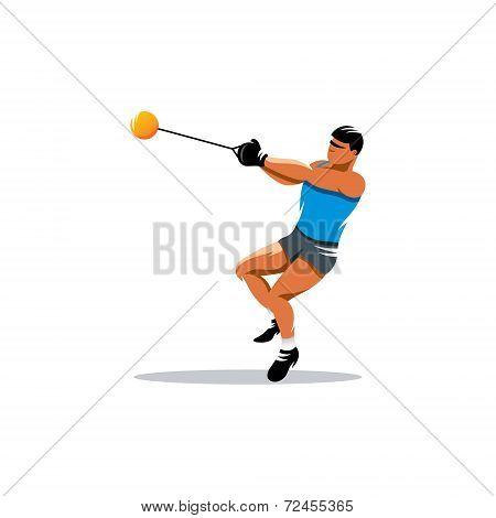 Hammer Throw Vector Sign