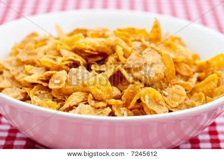 Breakfast Cereal In A White Bowl