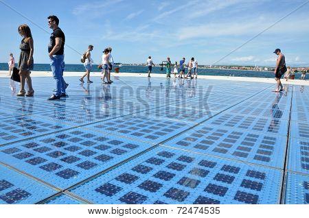 Greeting To The Sun - Solar Panel Sculpture In Zadar, Croatia