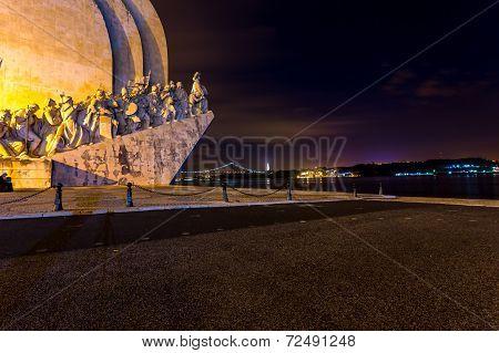Padrao Dos Descobrimentos, Lisbon, Portugal, At Night