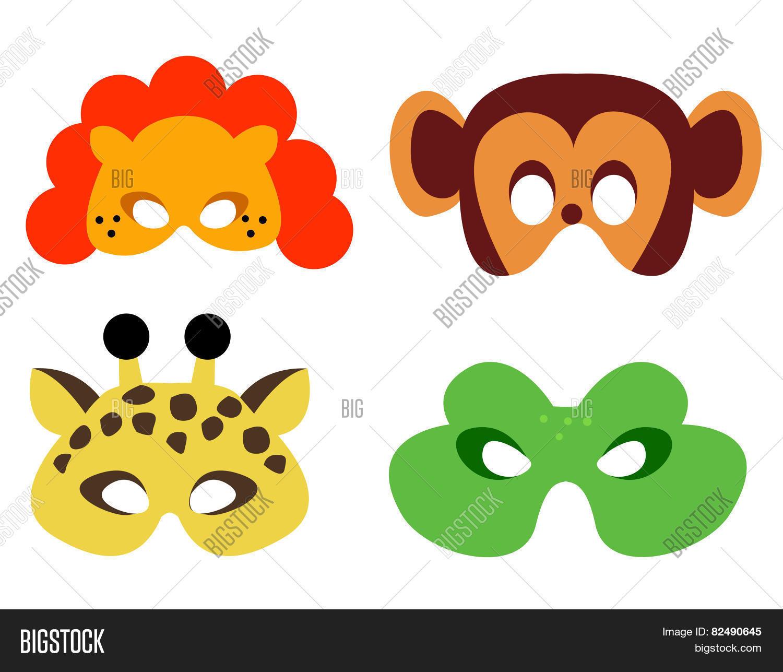 picture regarding Animal Masks Printable named Animal Mask Printable Picture Image (Free of charge Demo) Bigstock