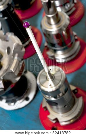 Infrared Inspection Touch Probe For Cnc Machines. Closeup.