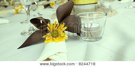 Yellow Daisy Table Setting