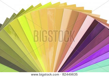Color Swatch isolated on white background