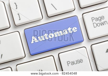 Blue automate key on keyboard