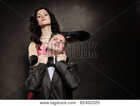 Woman In Control Of Man