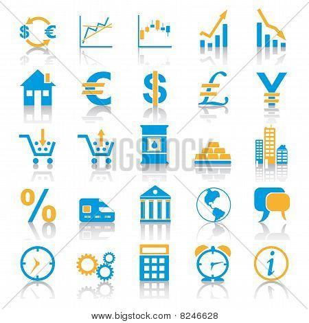 Blue Orange Marketplace Icons