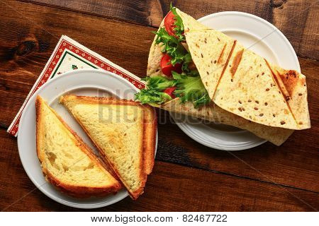Breakfast With Sandwich