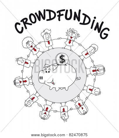 Crowd funding. I have a new business project. Crowd funding is a solution :  it's the funding a project or venture by raising many small amounts of money from a large number of people via internet.