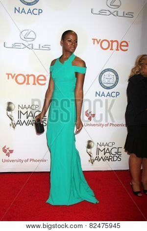 LOS ANGELES - FEB 6:  Tika Sumpter at the 46th NAACP Image Awards Arrivals at a Pasadena Convention Center on February 6, 2015 in Pasadena, CA