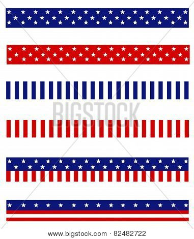 Usa Patriotic Page Dividers