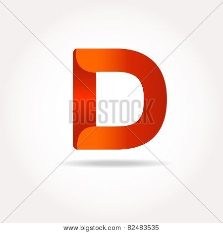 Letter D. Abstract template logo design. Vector logotype