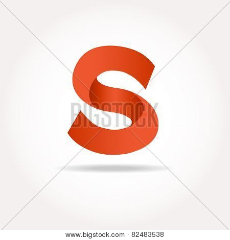Letter S. Abstract template logo design. Vector logotype