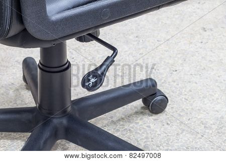 Lever adjustable of the office black chair poster