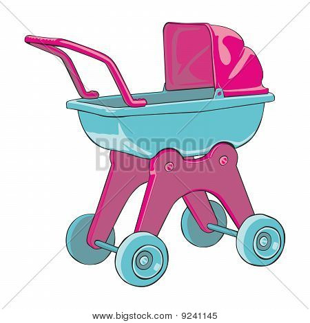 vector illustration baby-car