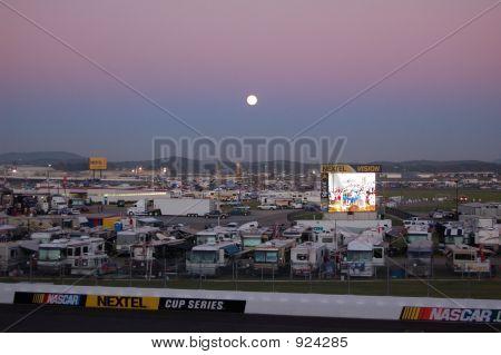 Moonrise Over Grandstand