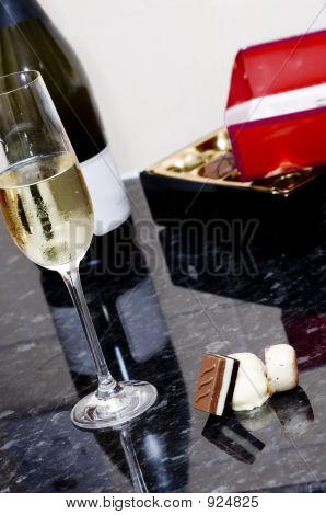 Wine And Chocolate Treat
